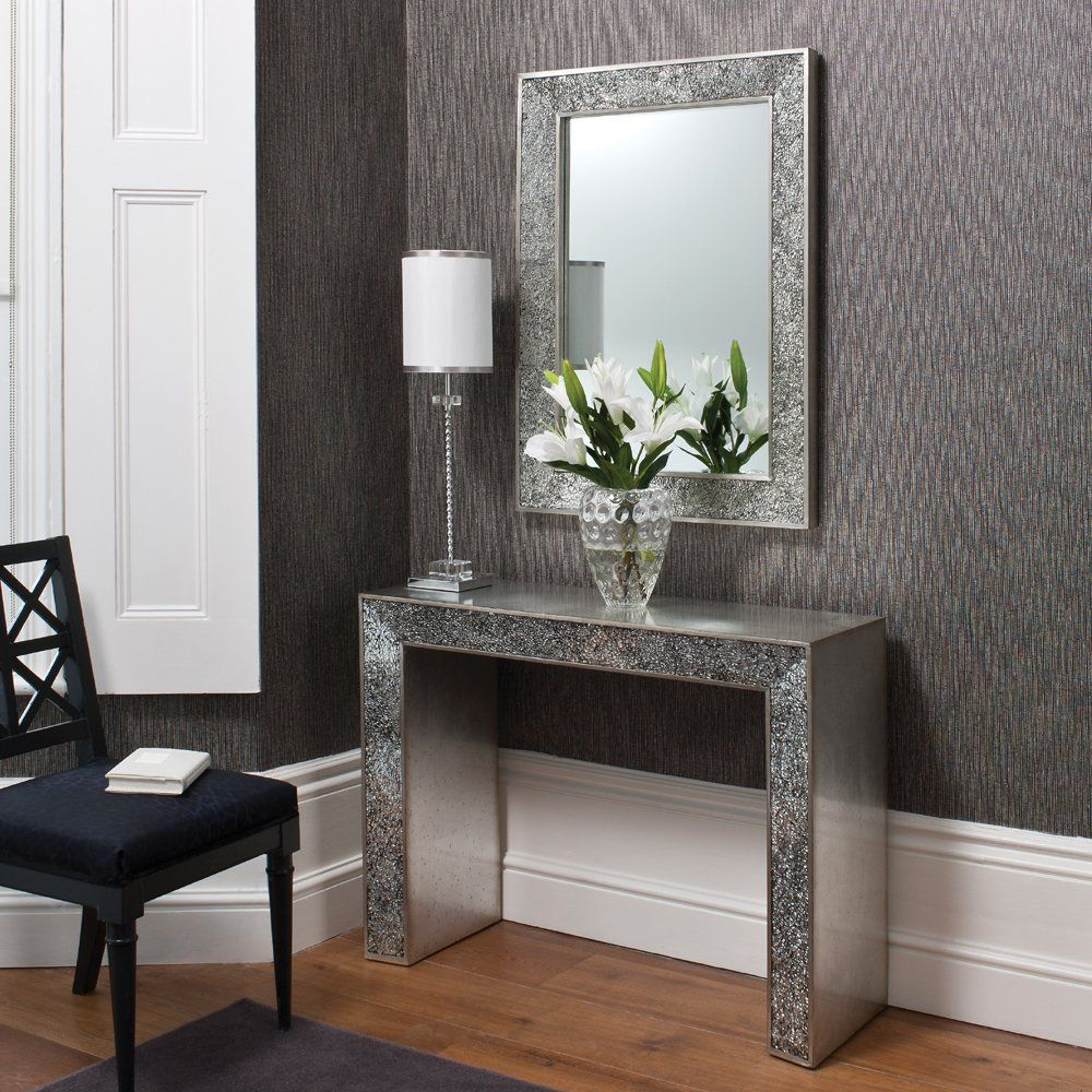 Living Room Console Table Beautidul Silver Modern With