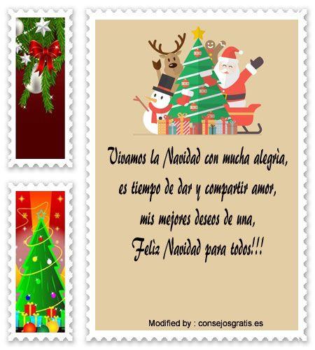 Tarjetas navidenas con mensajes para la familia