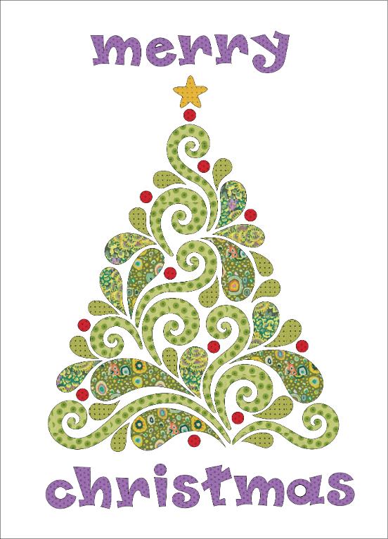 Evergreen - Applique Project Pattern   Pinterest   Weihnachten ...