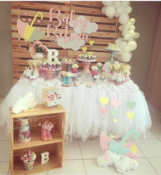 Decoracion De Nubes Para Baby Shower.Temas Para Baby Shower Nina 2018 Decoracion Fiesta De Nina