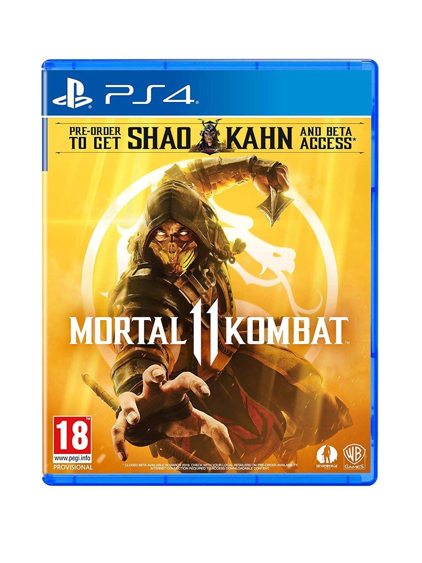 Playstation 4 Mortal Kombat 11 Ps4 In One Colour Mortal Kombat