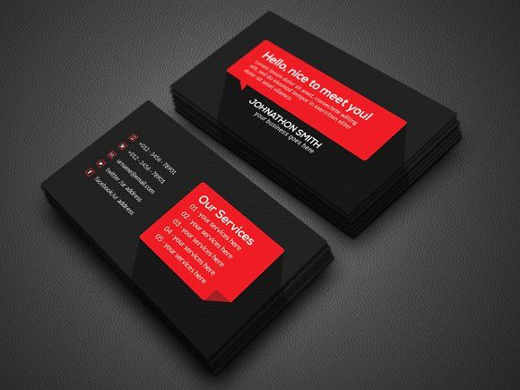 Personal Business Card Templates Features Round Square Corner - Easy business card template