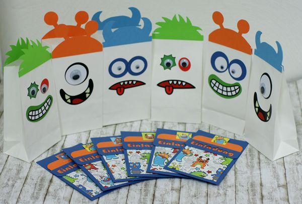 einladung kindergeburtstag monster | kinder | pinterest, Kreative einladungen