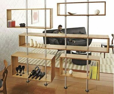 Mid Century Modern Floating Shelves