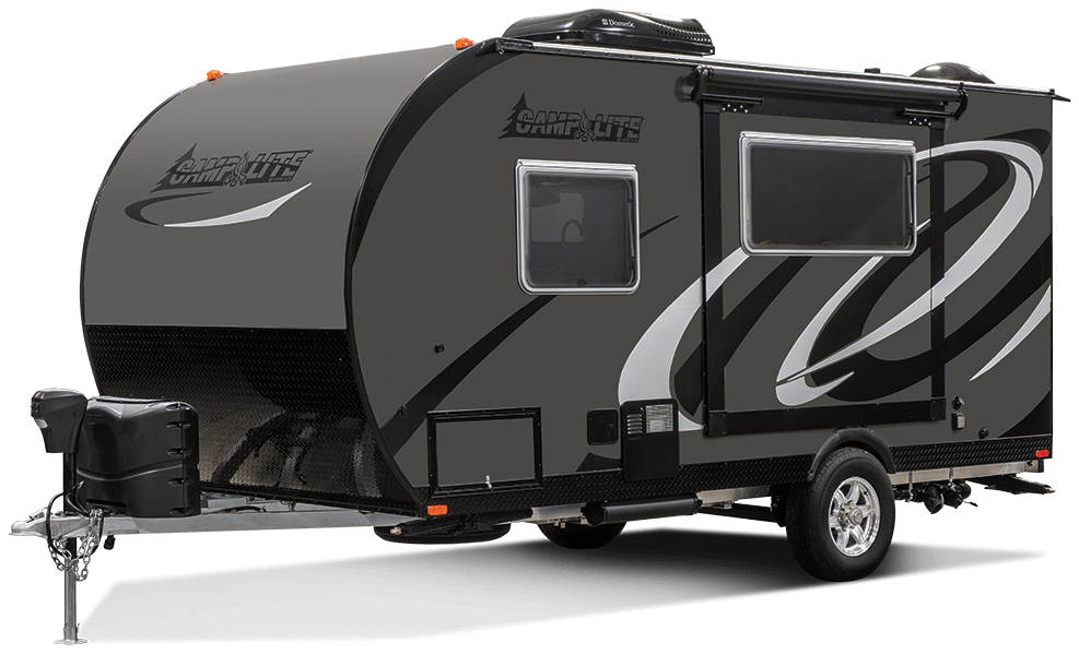 2017 Livin Lite Camplite Cl16tbs Travel Trailer Exterior Front 3 4 Off Door Png 987 600 Lightweight Travel Trailers Travel Trailer Camping Travel Trailer