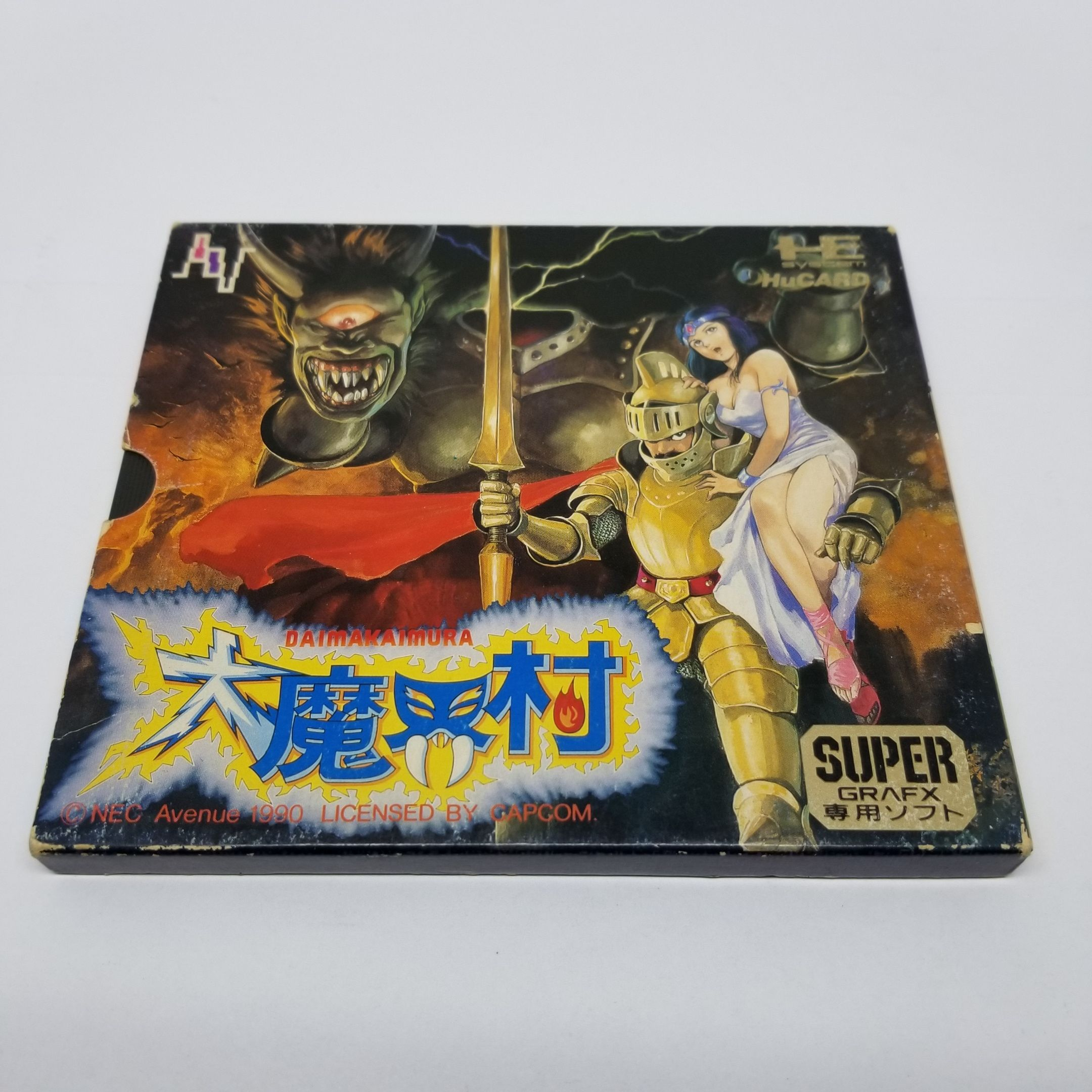 NEC PC Engine SuperGrafx HuCard DAIMAKAIMURA Ghouls n Ghosts