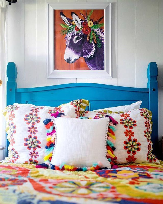 The happier the bedding the sweeter the sleep regram - Mexican home decor ideas ...