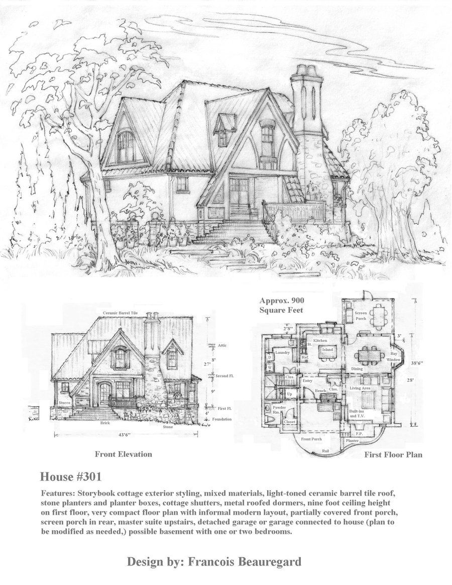 House 301 Storybook Cottage By Built4ever On Deviantart Storybook House Plan Storybook Cottage Storybook Homes