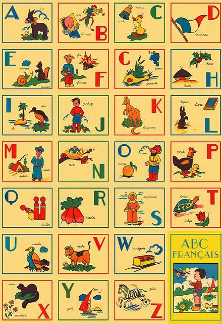 Cavallini Abc French Wrap French Alphabet Lettering Alphabet Alphabet Poster