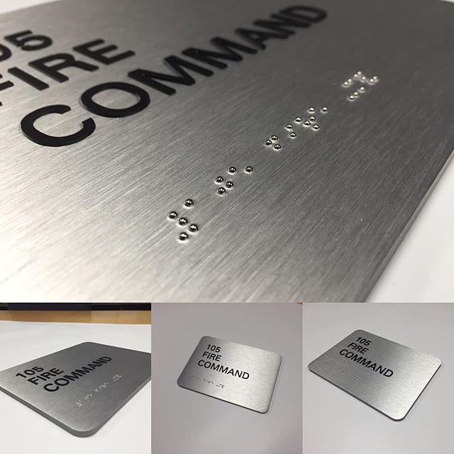 Office sign, Aluminum panel sign with grade 2 braille and raised tactile letters, complies with ADA signage regulations, #sign #signShop #fabrication #signage #ADAroomsign #officeSign #adacompliant #interiorsign #interiorsigns #interiordesign #interior #interiordesigner #design #designers #decoration #architecture #architecturalSign #roomsigns #braille #architecturelovers #signlovers #austin #texas #madeinusa #art #graphic #egd #modern
