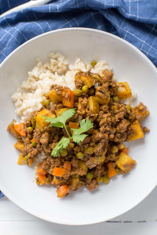 Instant Pot Or Skillet Indian Spiced Ground Beef Potatoes Recipe Ground Beef Ground Beef And Potatoes Beef And Potatoes