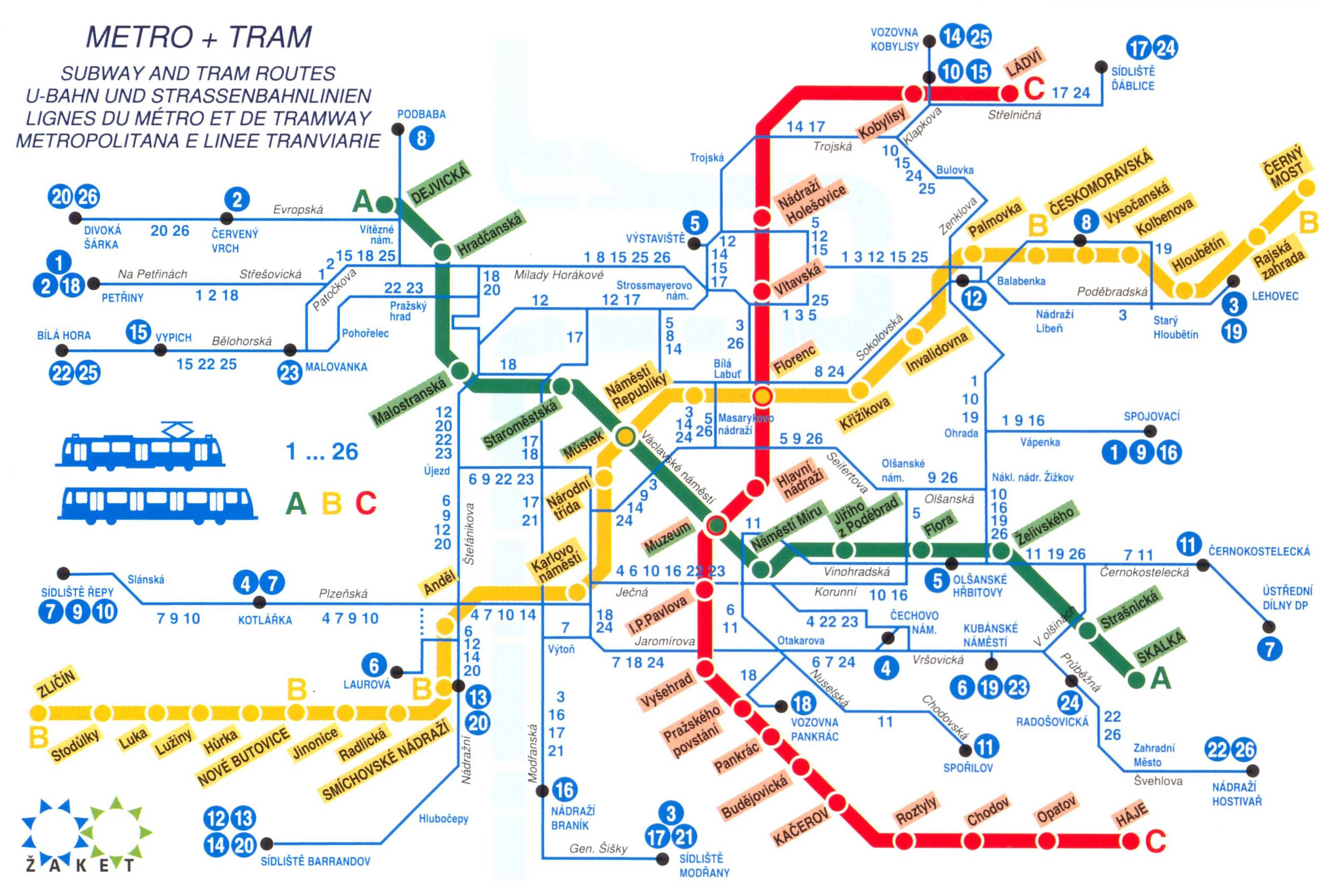 Budapest Subway Map English.Prague Train Lines Prague Metro Map Prague Tram Map Well