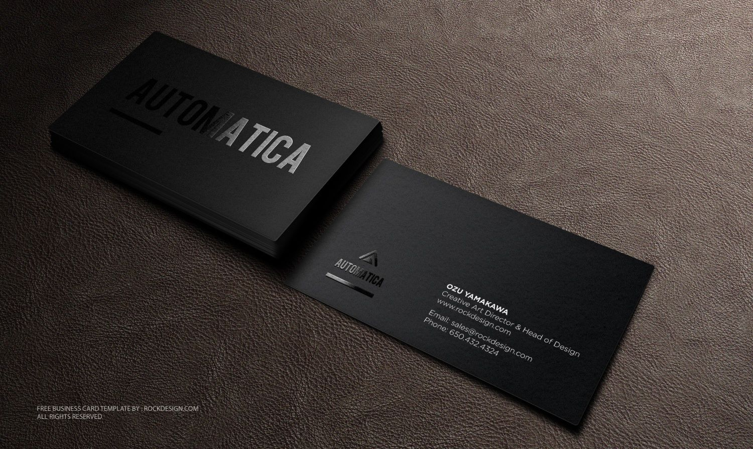 black business card template download free design templates