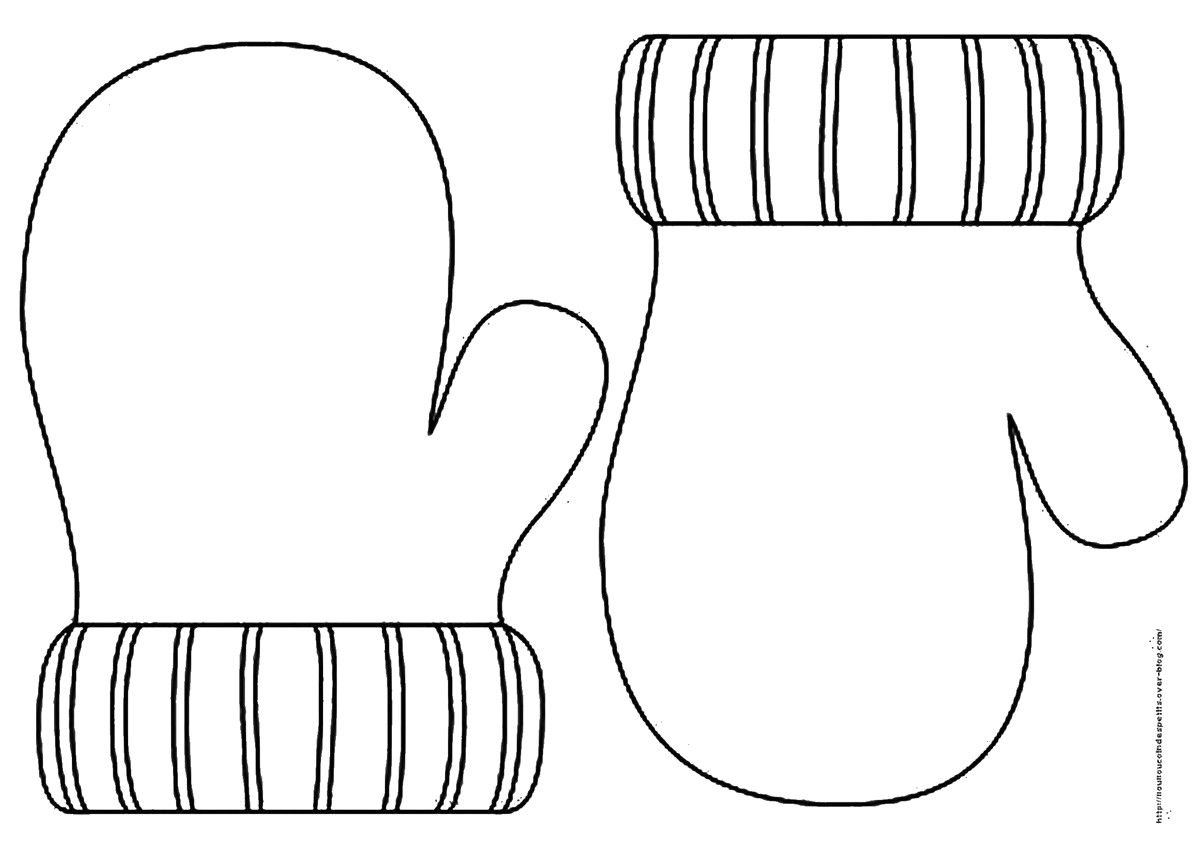 Unique Printable Mitten Coloring Page Mittens With Snowman