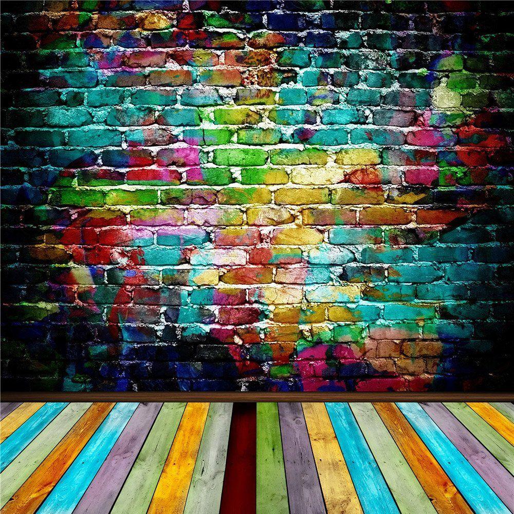 amazoncom susu 10x10ft3x3m colorful brick wall