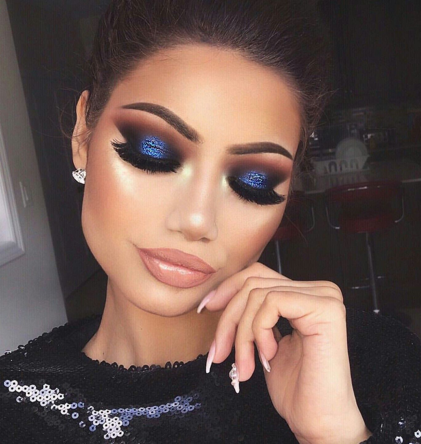 pinterest: @candidlynas | makeup ideas | blue makeup, eye