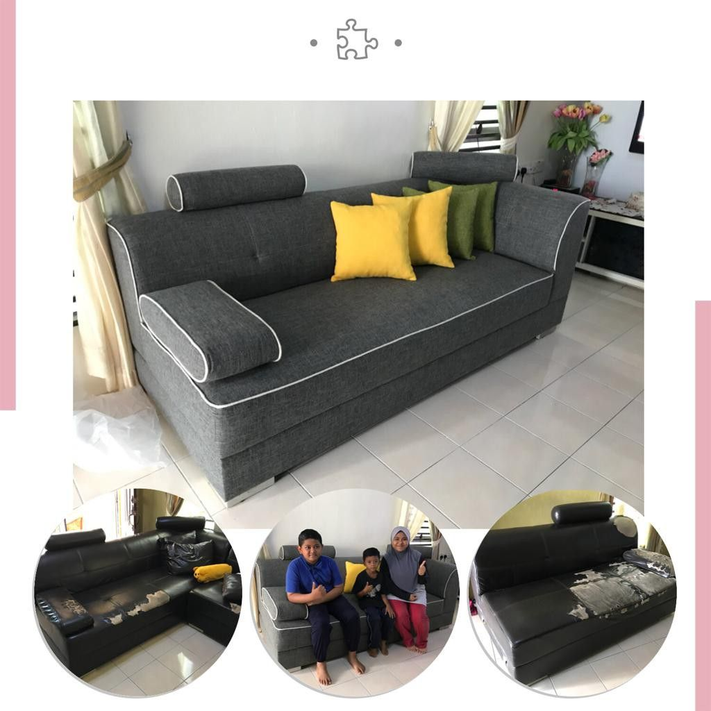 Sofa Upholstery Penang Refurbished Modified And Transform With Material Fabric Penang