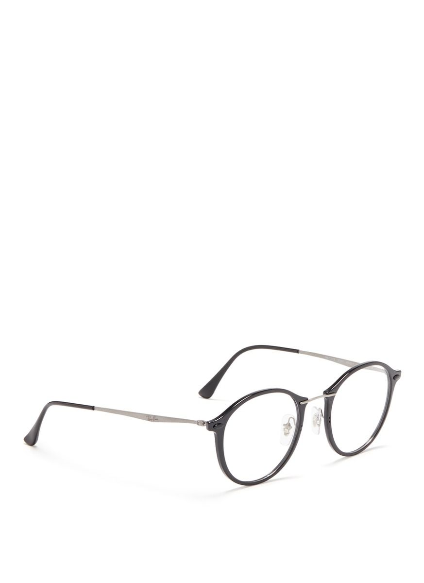 1b4f6e235a29 $110 RAY-BAN - 'RB7073 Light Ray' titanium temple optical glasses - on SALE  | Black Round Frame Eyewear | Women | Lane Crawford - Shop Designer Brands  ...