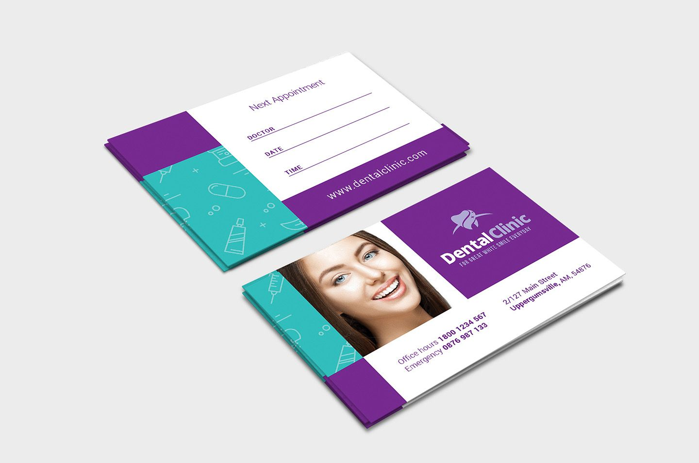 Dental Clinic Appointment Card Template In Psd Ai Vector Regarding Dentist Appointment Card Template B Dentist Appointment Appointment Cards Dental Clinic