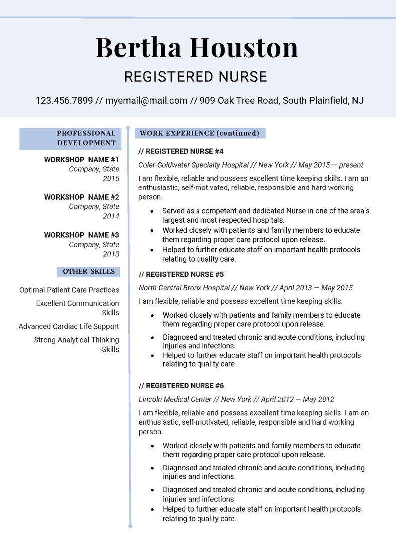 Resume Template, Professional Resume Template, Creative