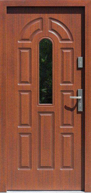 Exterior wooden doors with glass model 578s11 in color …