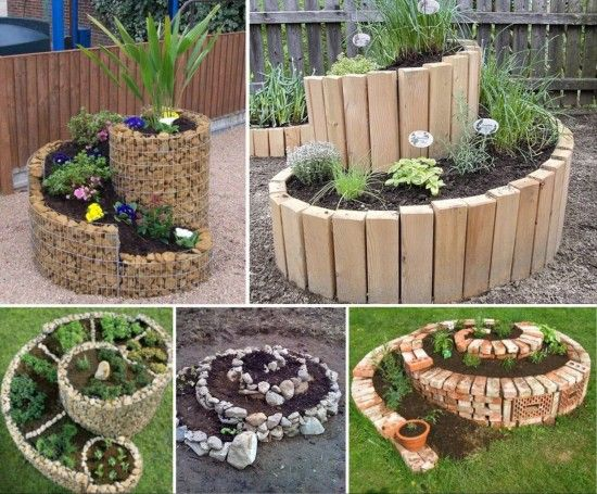 Outdoor Garden Ideas garden ideas for small gardens minimalist grass floor tile bench Best Spiral Garden Ideas