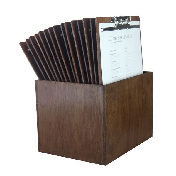 A set of A4 Wooden clipboards fitted with Top Lever Clamps. Comes with matching timber box for easy storage. Order online or call us 1300 361600