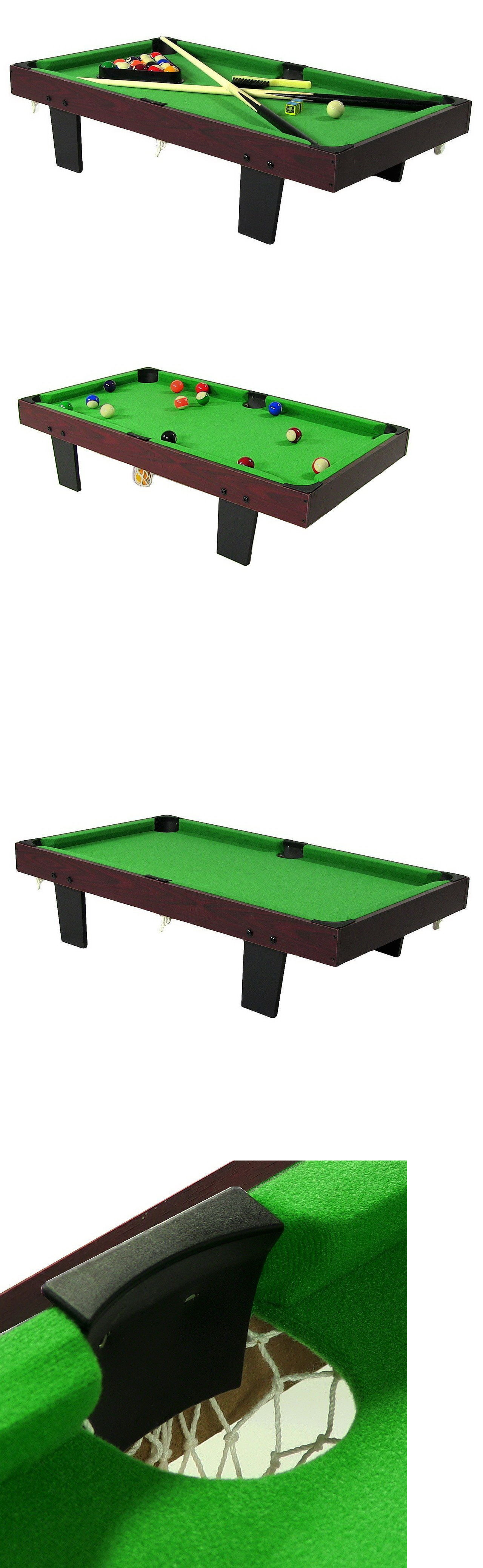 Tables 21213: 36 Inch Mini Tabletop Pool Table With Triangle, Balls, Cues
