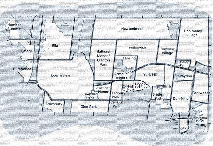 Canada Map North York Toronto Neighbourhood Guide   North York | North york, Toronto