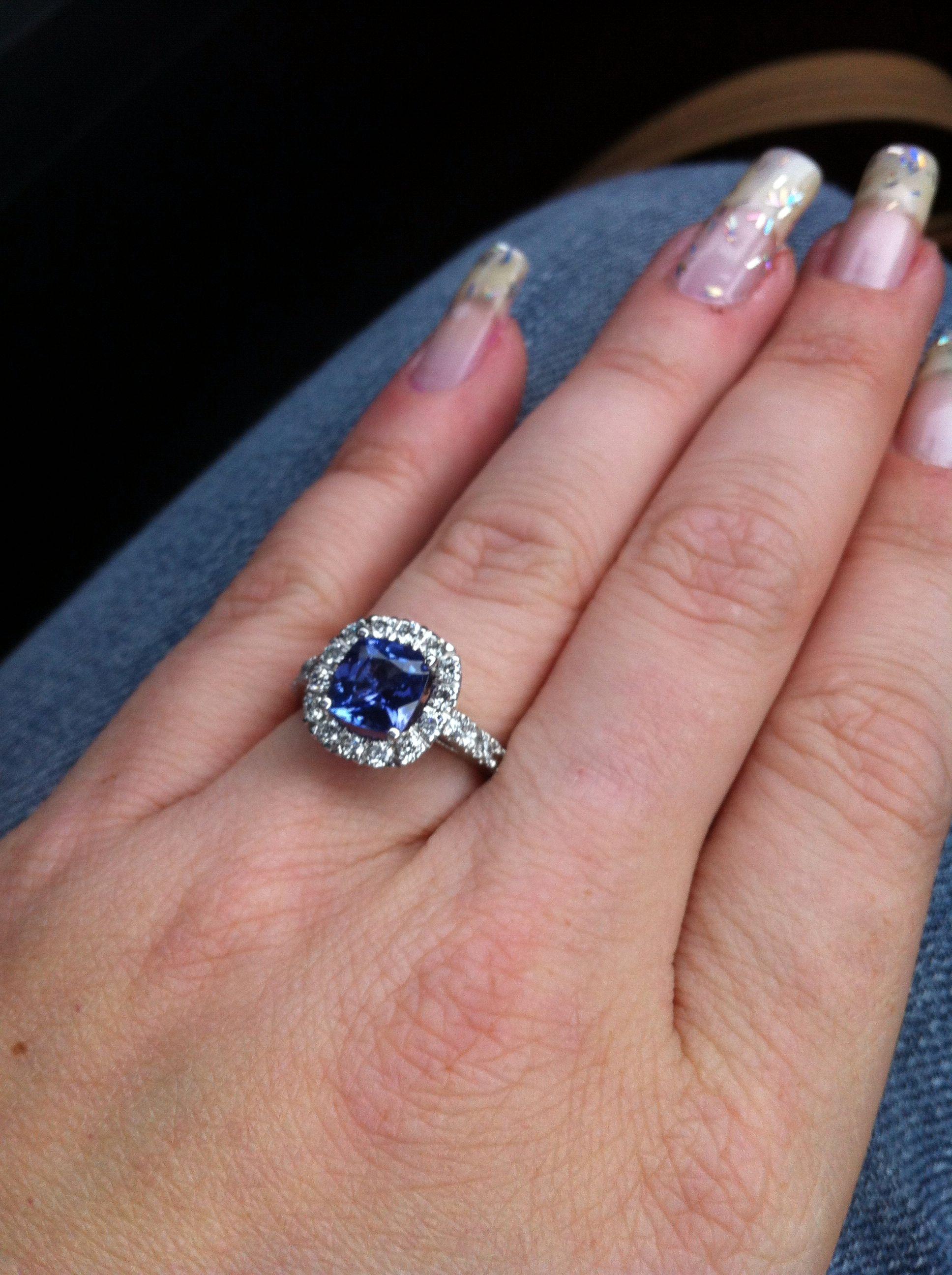 My Tanzanite Engagement Ring :)   Wedding Ideas   Pinterest ...
