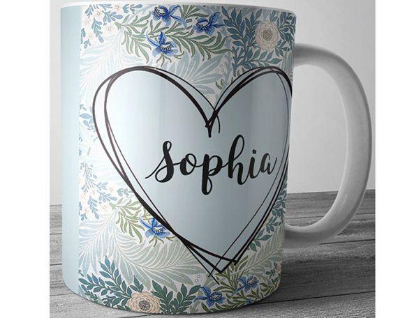 Custom Name Mug Valentines Day Mug Personalized by JustPhoneCases