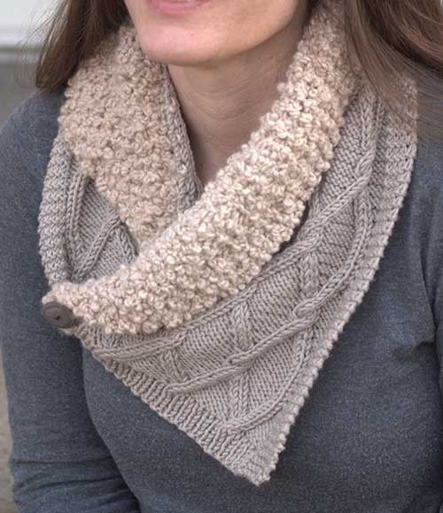 Collared Scarf Knitting Pattern - #ad Neckwarmer with a ...
