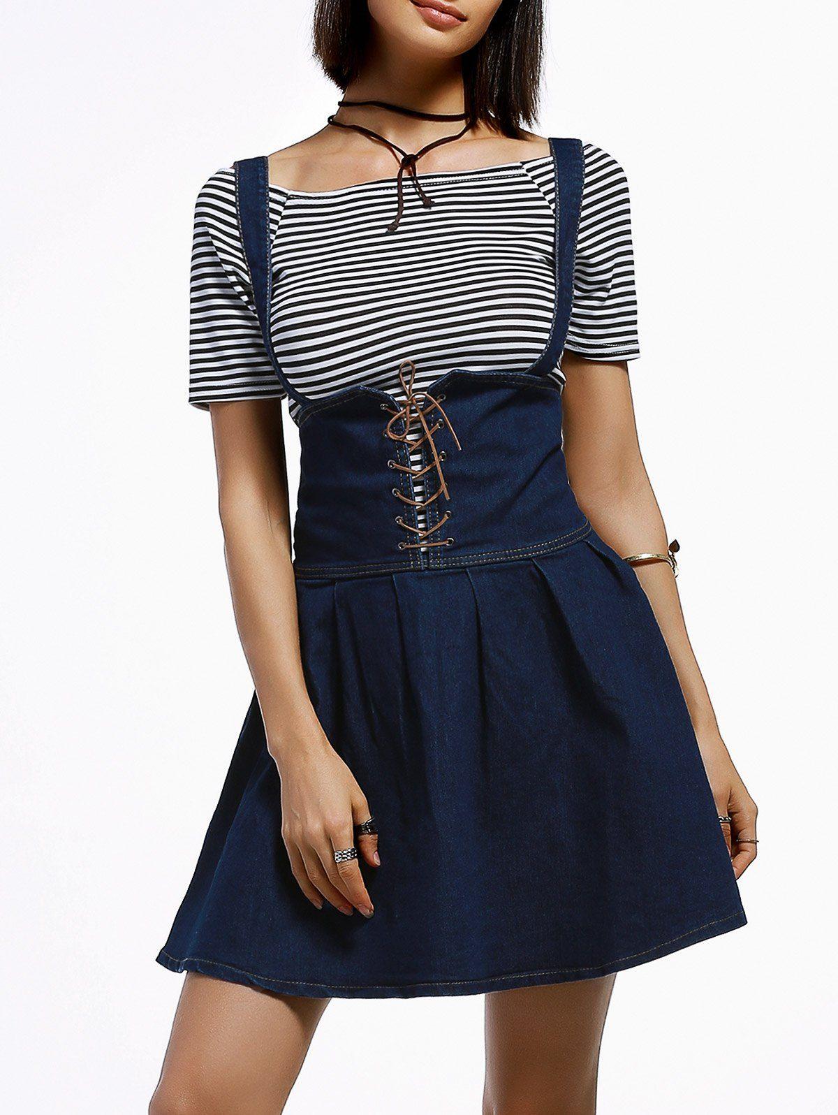 Striped short dress Twin-Set CzCXsi8