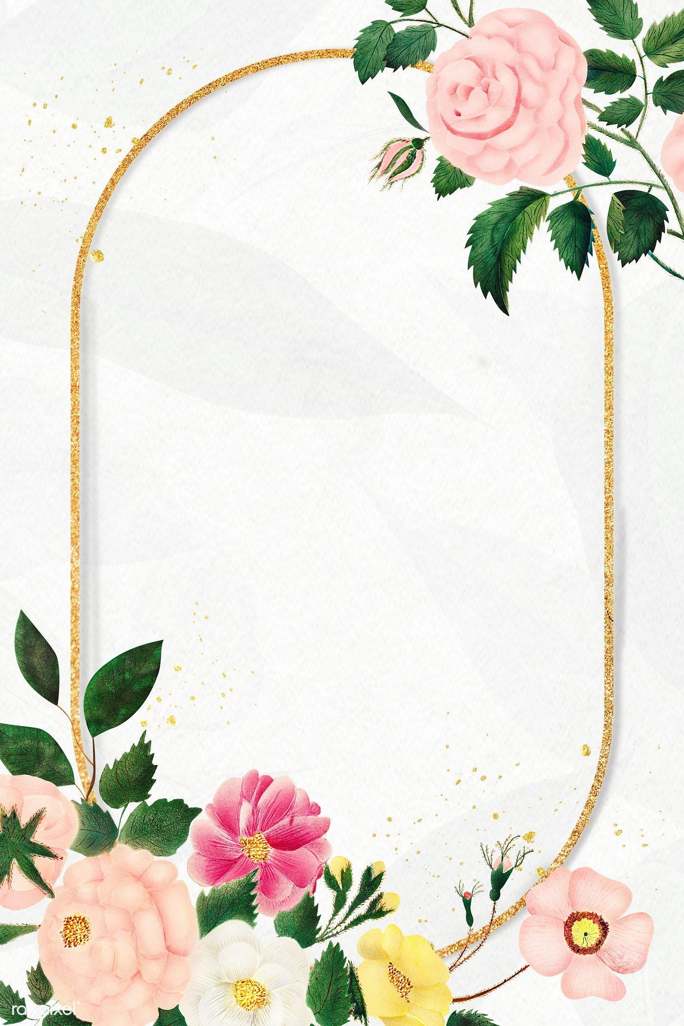 Download Premium Illustration Of Vintage Flower Frame Illustration 2209068 In 2020 Flower Frame Vintage Flowers Flower Illustration