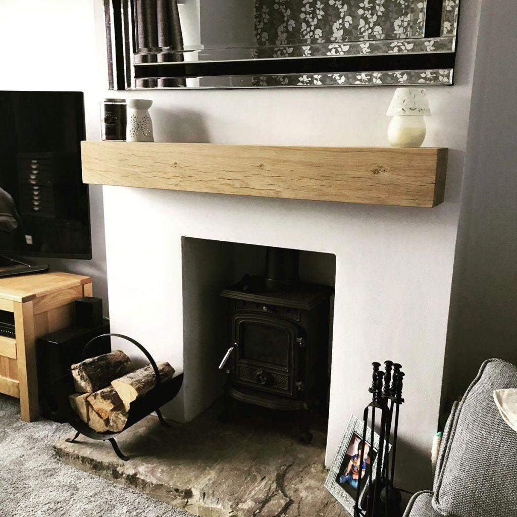 Oak Beam Fireplaces Cheapest Mantels In The Uk Planed And Sanded In 2020 Log Burner Living Room Oak Beam Fireplace New Living Room