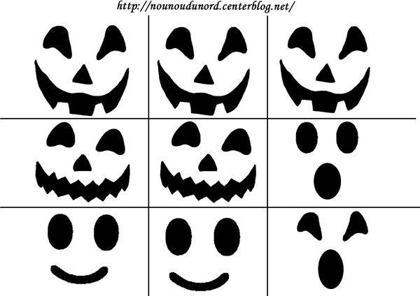 Bouche Citrouille Halloween.Yeux Nez Bouche Pour Citrouille Et Fantome Kid Friendly Halloween Decorations Bricolage Halloween Halloween Deco
