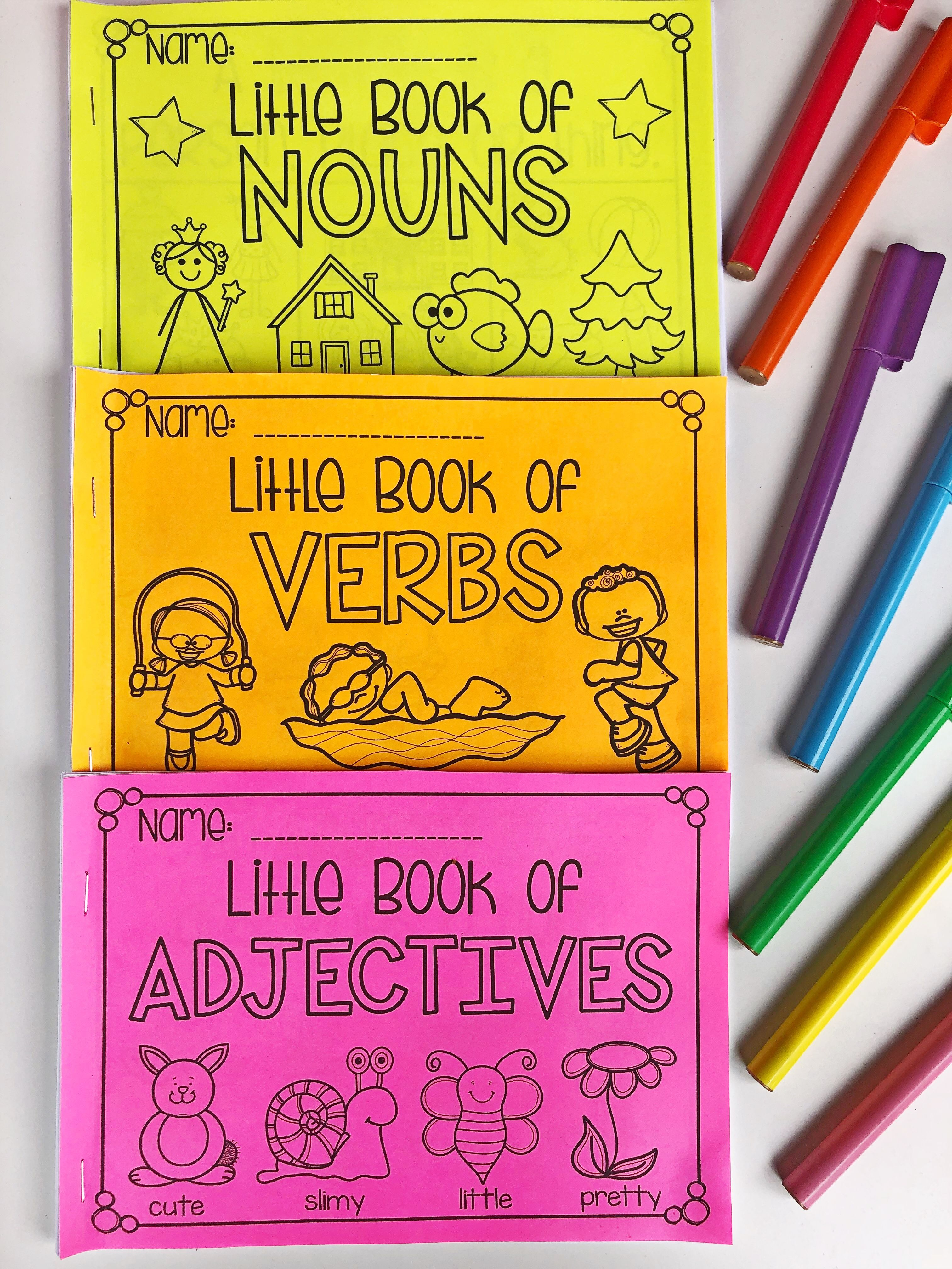Little Book Of Nouns Verbs And Adjectives