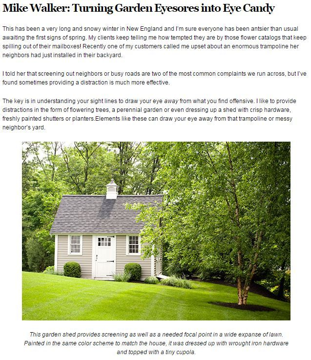 Hoffman Landscapes in New England Home | Spring 2015