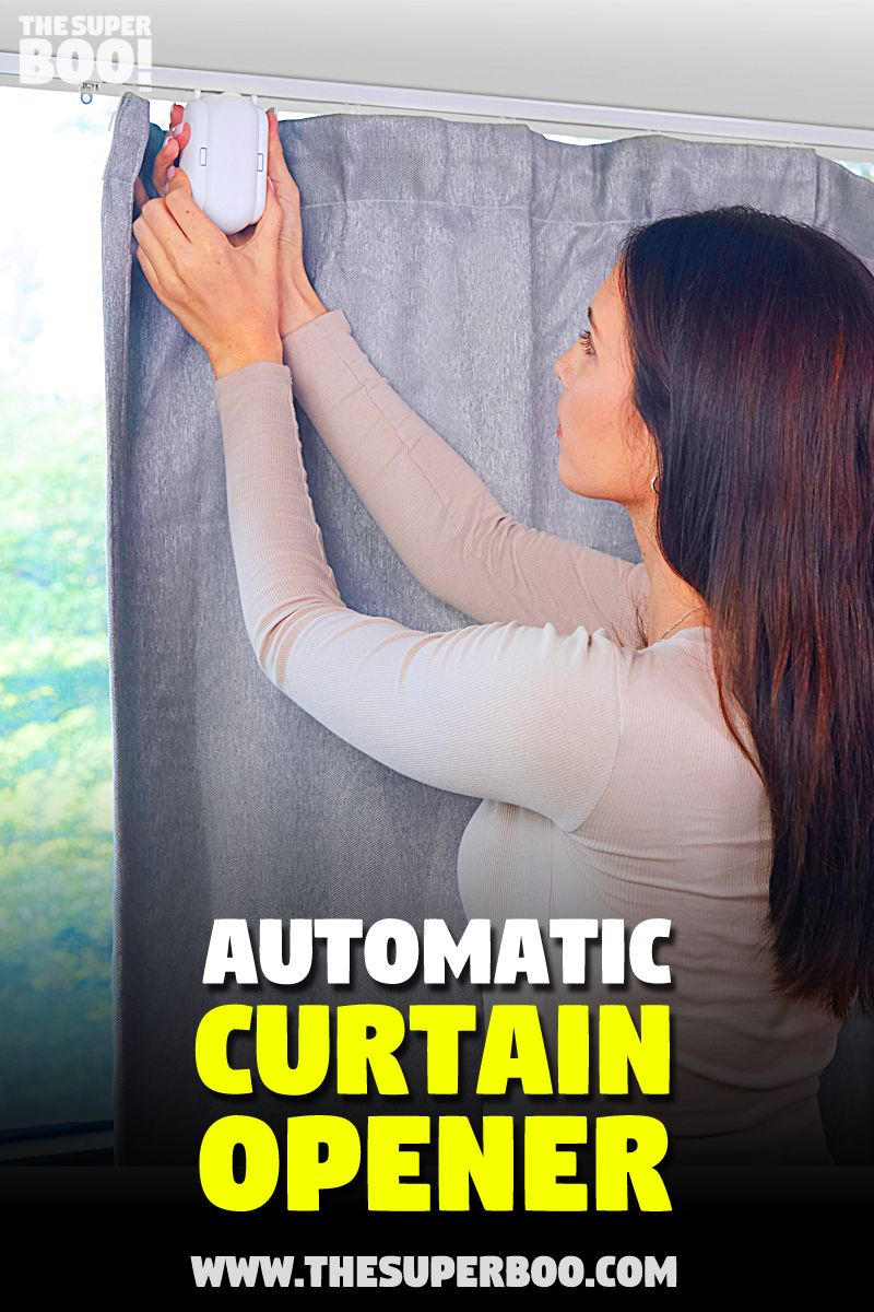 Smart Automatic Curtain Opener Robot Curtains Cool Things To