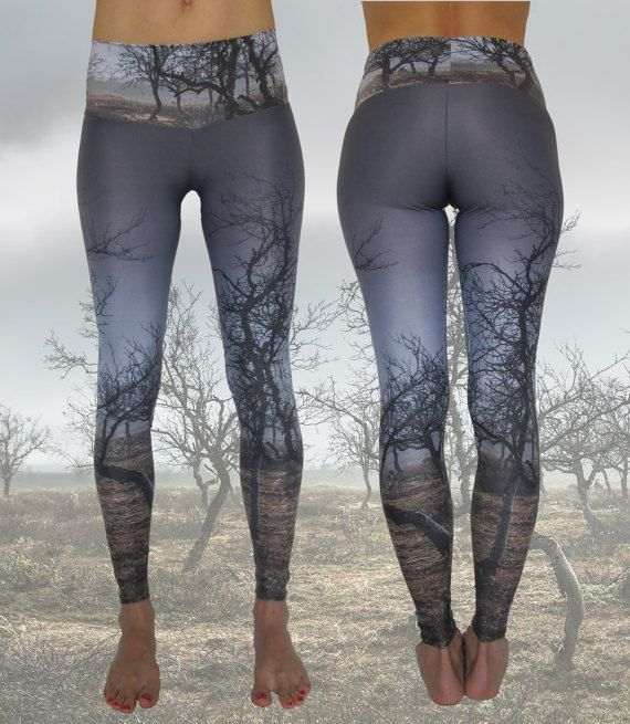 0bc88ae994fab8 Eco-Friendly Handmade Yoga Leggings • Recycled Polyamide • Digital Printed  • Yoga pants • Eco-Conscious • Unique • Nature • Landscape