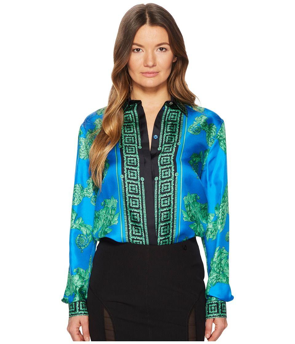 Versace Collection Camicia Donna Tessuto (Blue Print