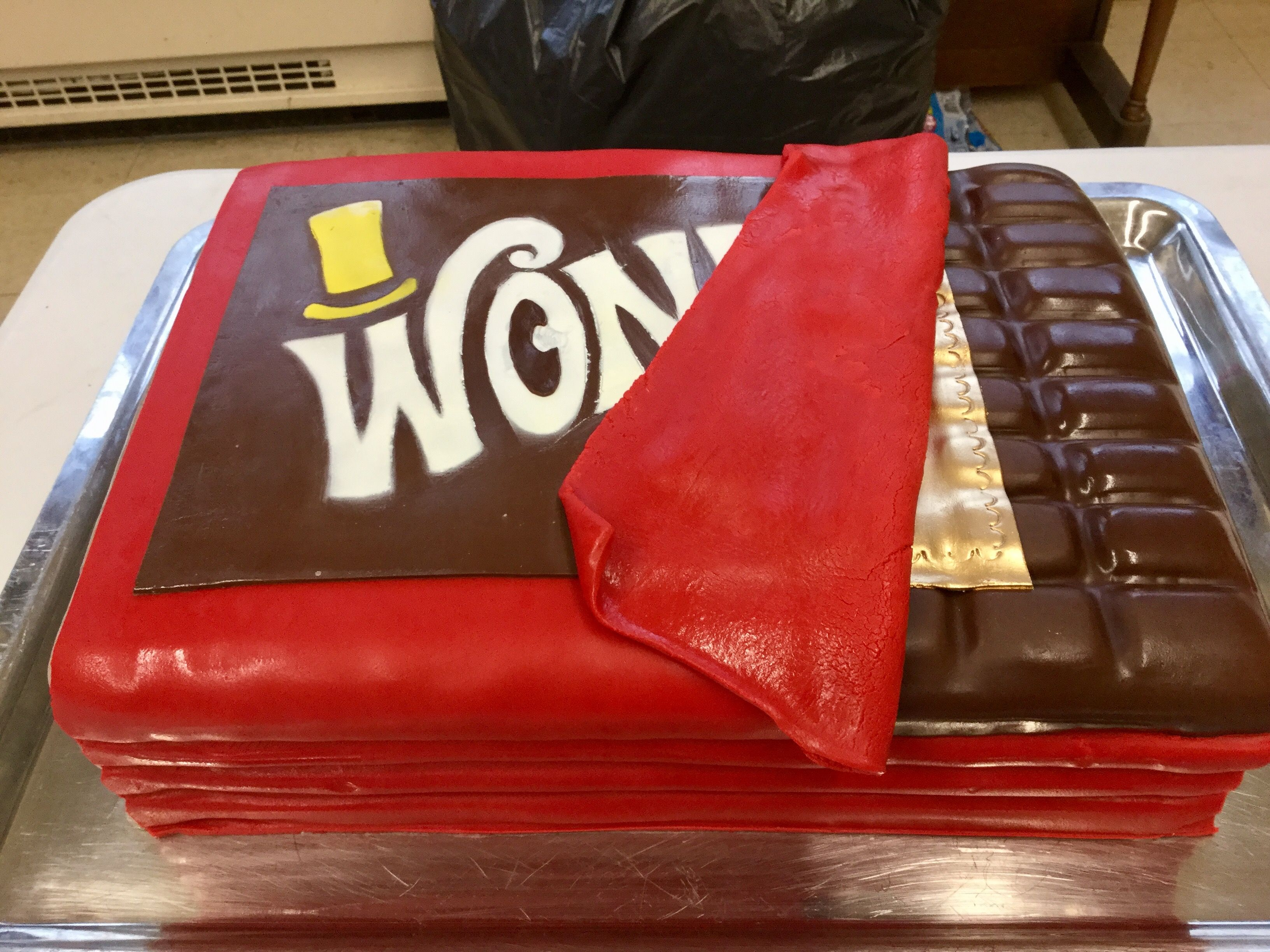 Wonka Bar Cake For The Wonka Kids Cast Party Kids Cast Kids Party