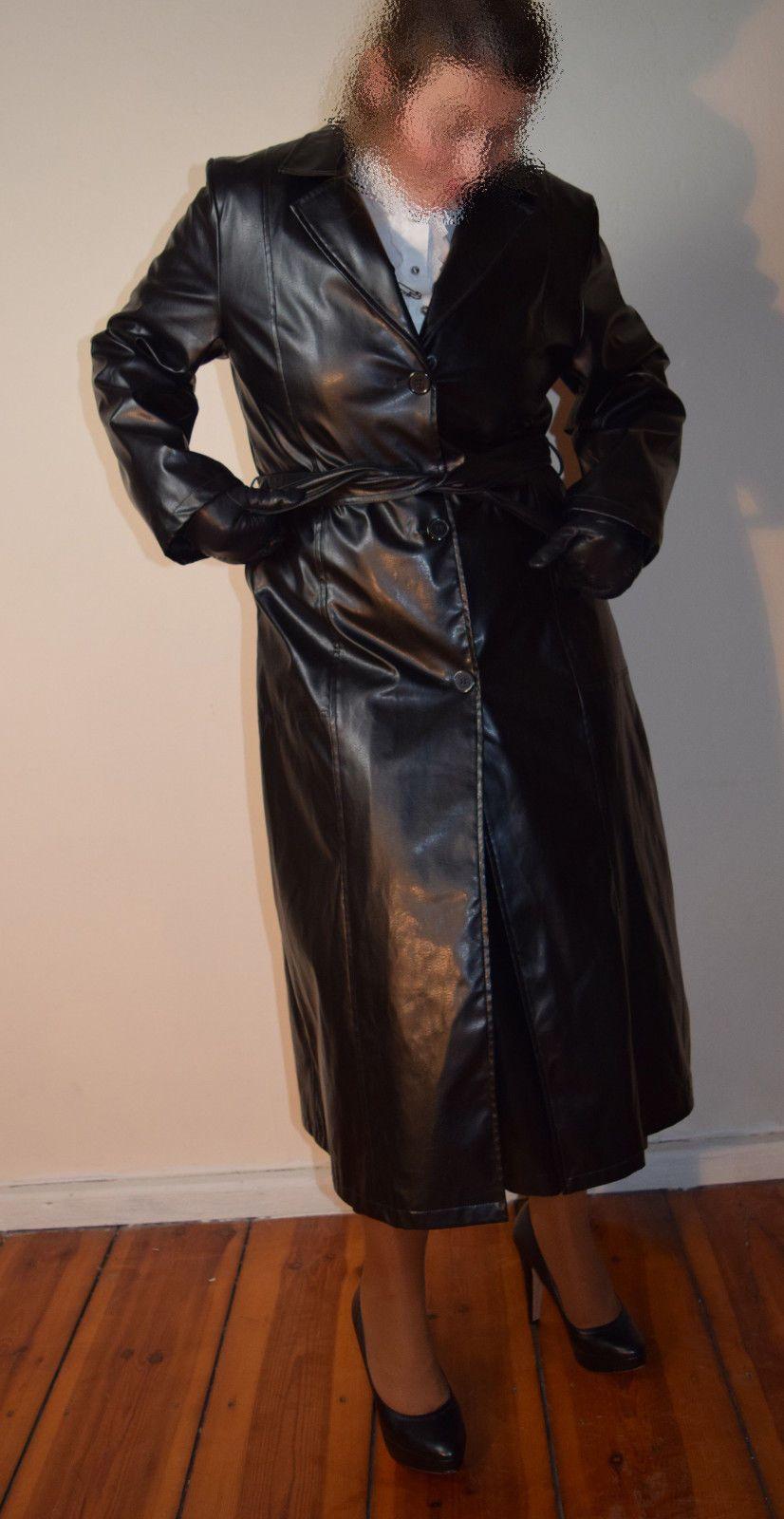 ledermantel damen lang gothik