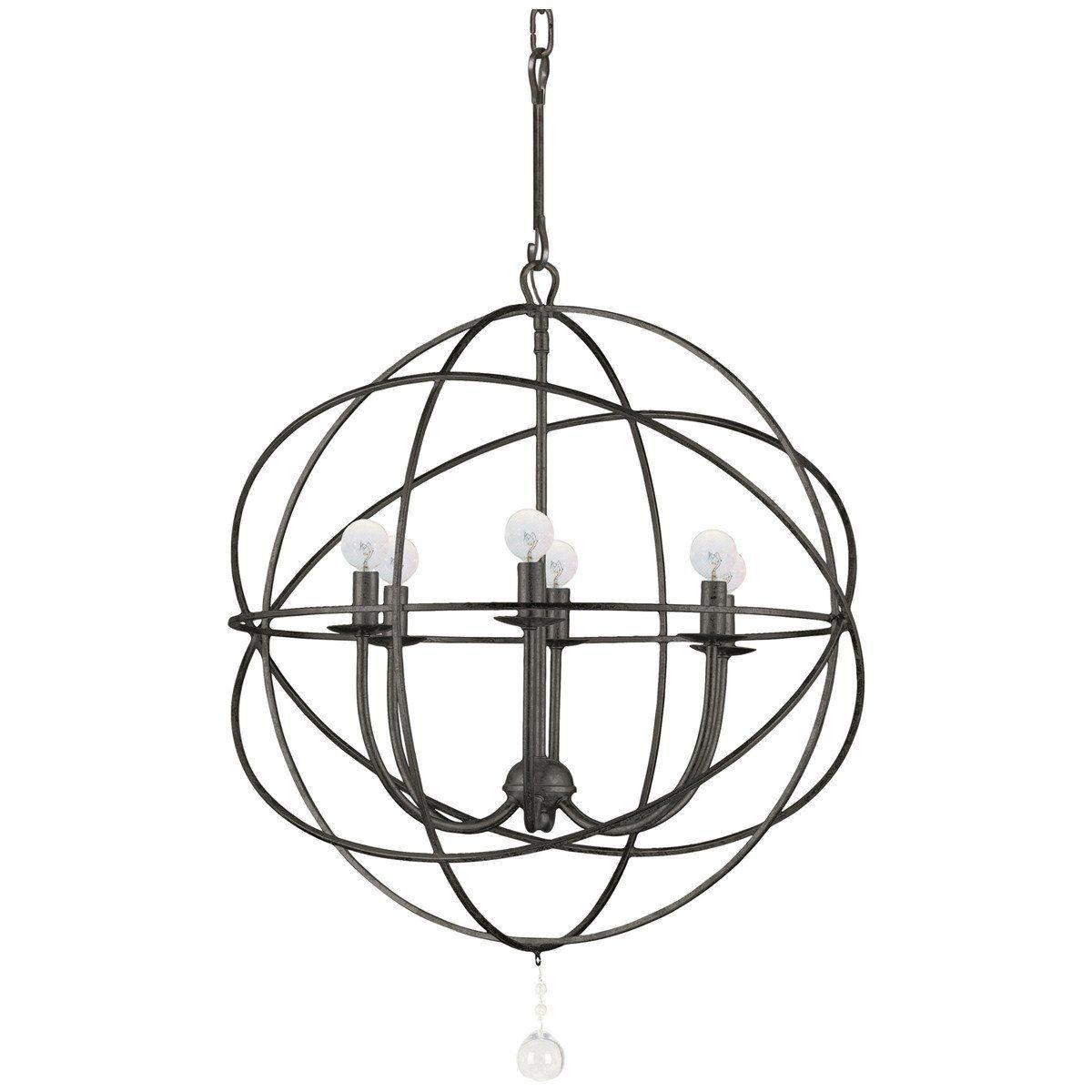 Crystorama Solaris 6 Lights Sphere Chandelier Ii In