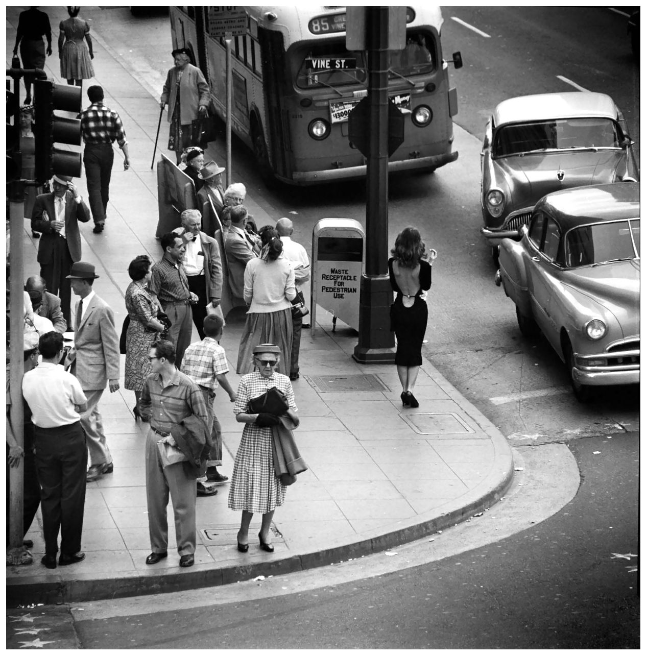Vikki Dougan in Vine Street, Hollywood, photographed by Ralph Crane for Life Magazine, 1957.
