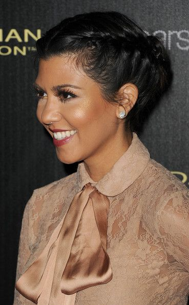 Kourtney Braided Updo So Cute And Her Makeup Is Flawless Here Too