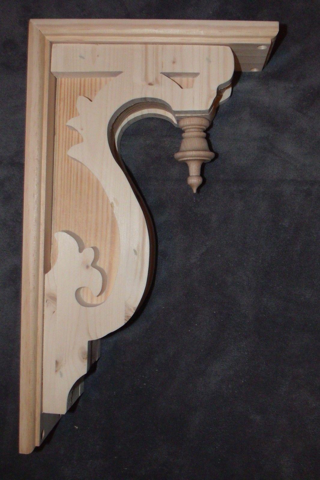 Victorian Gingerbread Wood Corbel 17 X 9 1 2 Bracket 6 By Pld Wood Corbels Corbels Gable Decorations