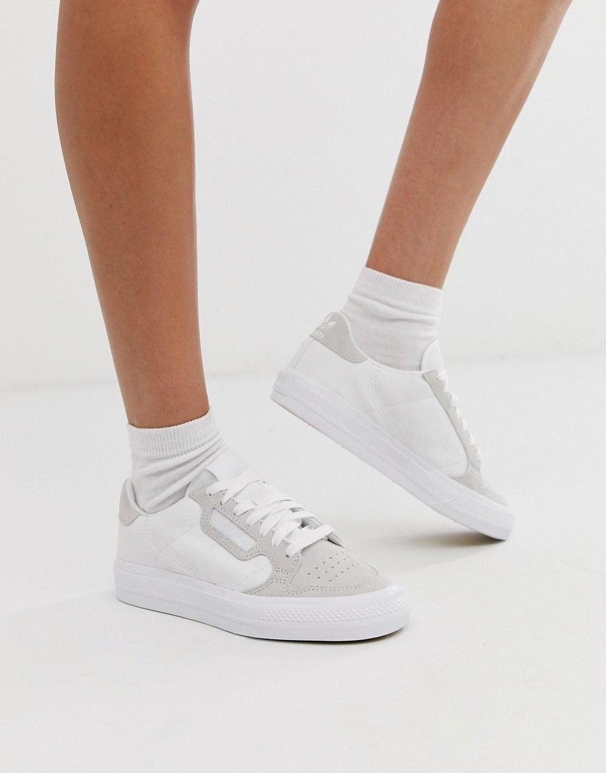 White Leather Low-top Sneaker In Blanc | Adidas mujer ...