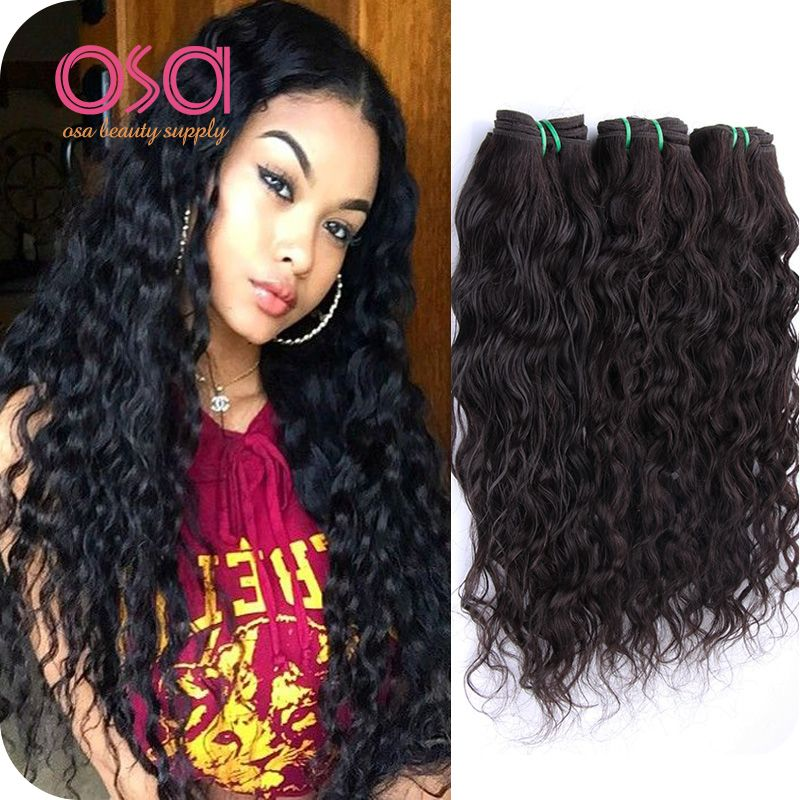 Osa Hair Water Wave 4 Bundles 1b Ocean Wave Wet And Wavy