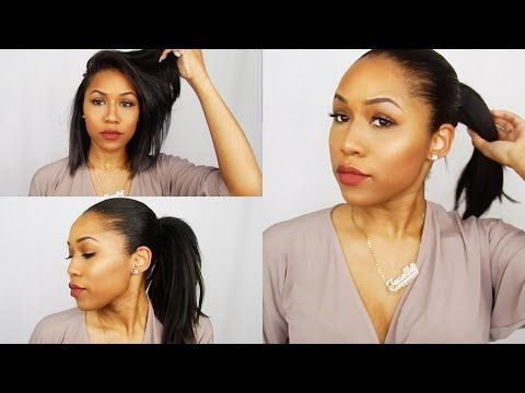 Faux High Ponytail For Short Hair Weave Ponytail Relaxed Hair Youtube Weave Hairstyles Short Weave Hairstyles Relaxed Hair